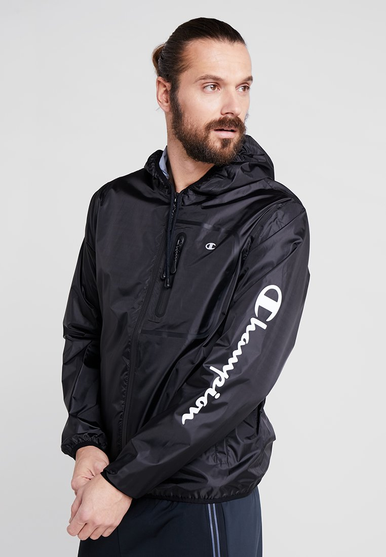 Champion - LIGHTWEIGHT HOODED JACKET - Løbejakker - black