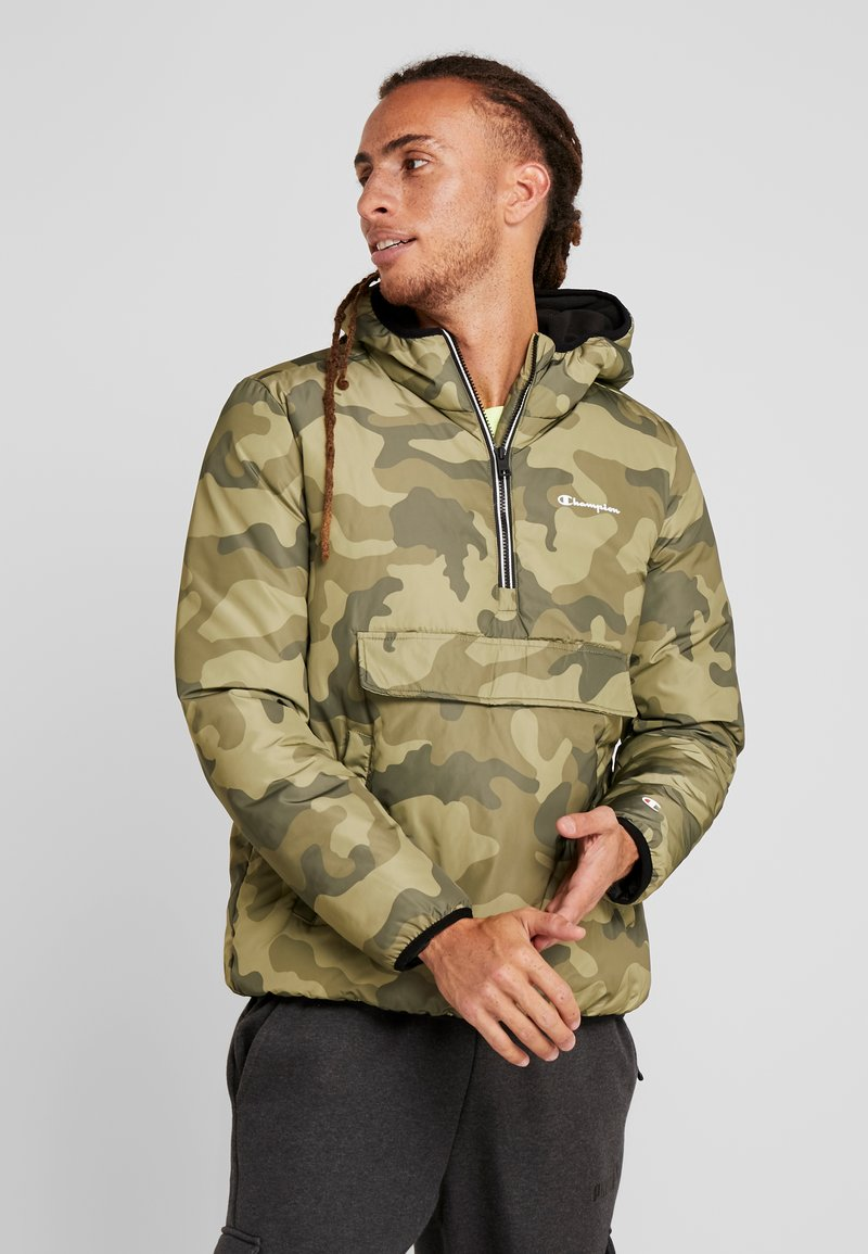 Champion - HOODED JACKET ANORAK - Zimní bunda - olive