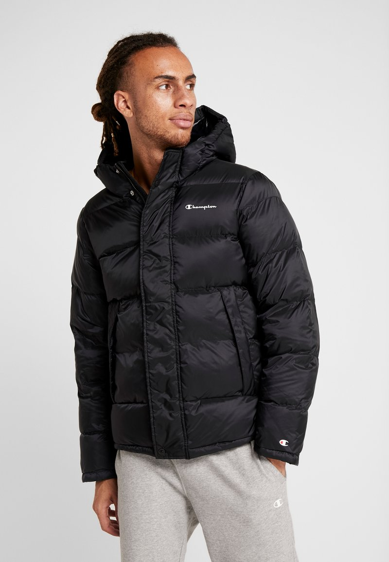 Champion - HOODED JACKET - Winterjacke - black