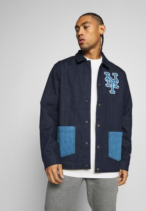MLB NEW YORK YANKEES COACH JACKET - Klubové oblečení - dark blue denim