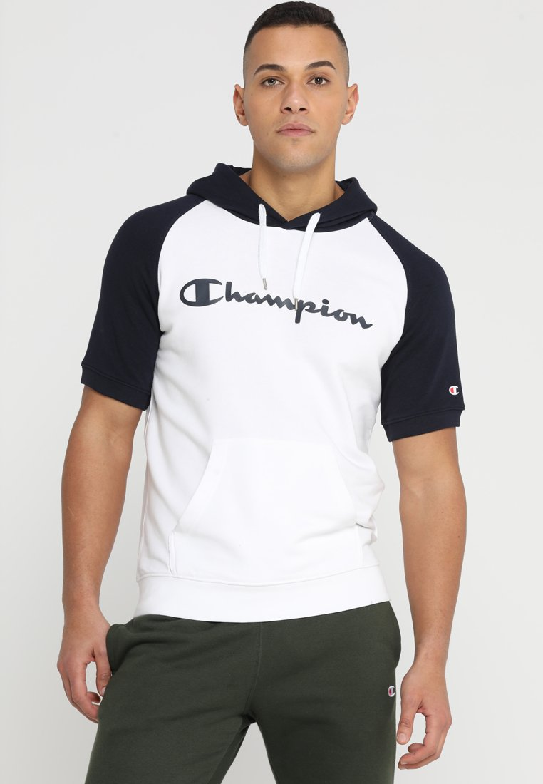 Champion - HOODED SHORT SLEEVES  - Print T-shirt - white