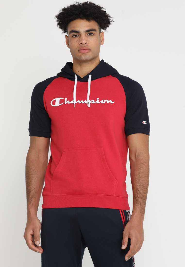 Champion - HOODED SHORT SLEEVES  - T-shirt print - rot