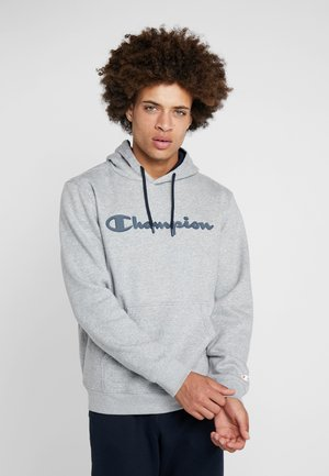 HOODED - Luvtröja - oxi grey melange/navy