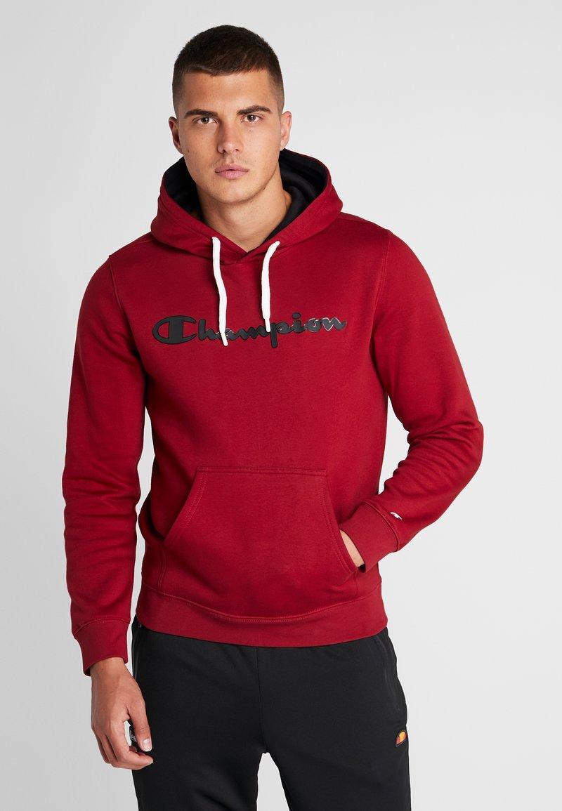 Champion - HOODED - Kapuzenpullover - dark red