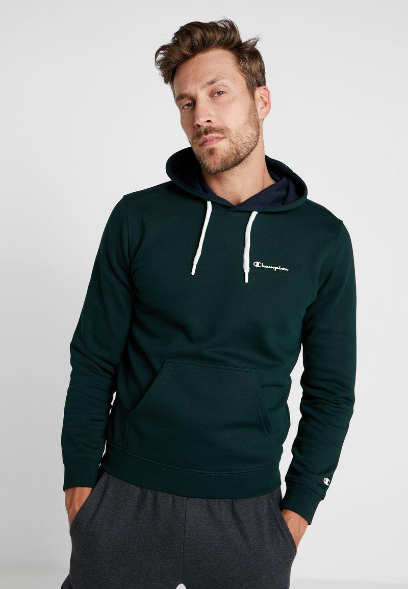 Champion - HOODED - Hoodie - dark green/navy