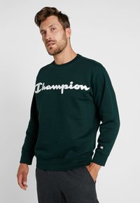 Champion - CREWNECK  - Mikina - dark green - 0