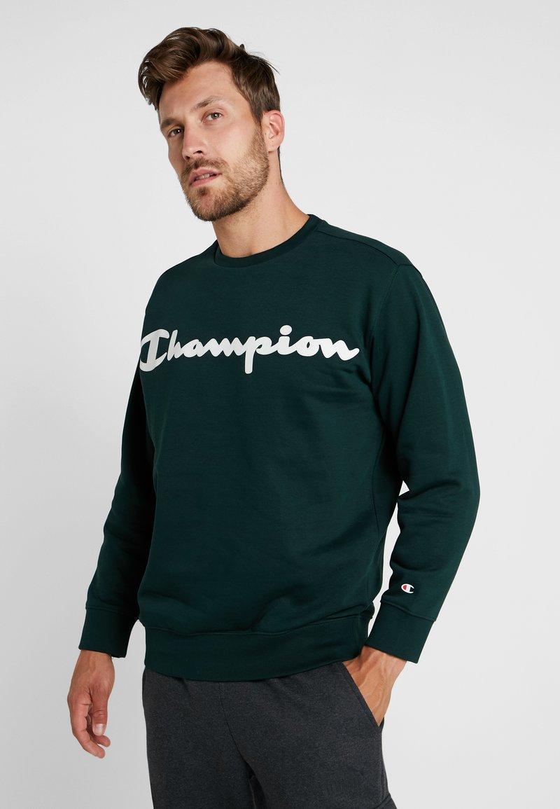 Champion - CREWNECK  - Mikina - dark green