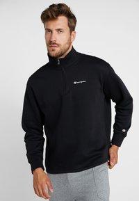 Champion - HALF ZIP  - Sweatshirt - black - 0