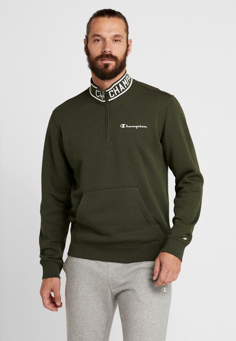 Champion - HALF ZIP  - Sweatshirt - dark green
