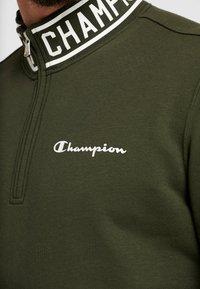 Champion - HALF ZIP  - Sweatshirt - dark green - 4