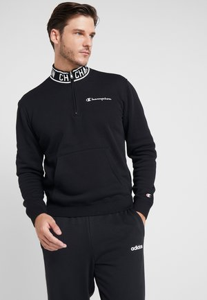 HALF ZIP  - Sweater - black