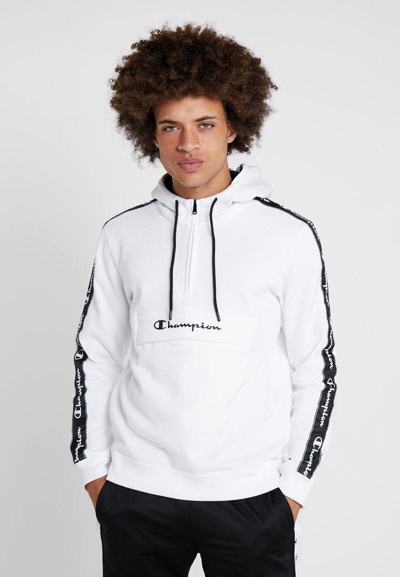 Champion - HALF ZIP - Kapuzenpullover - white