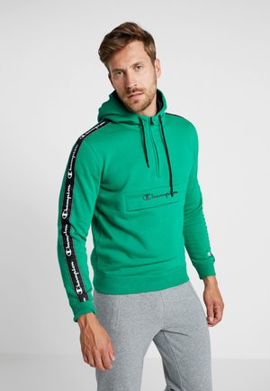 HALF ZIP - Bluza z kapturem - green