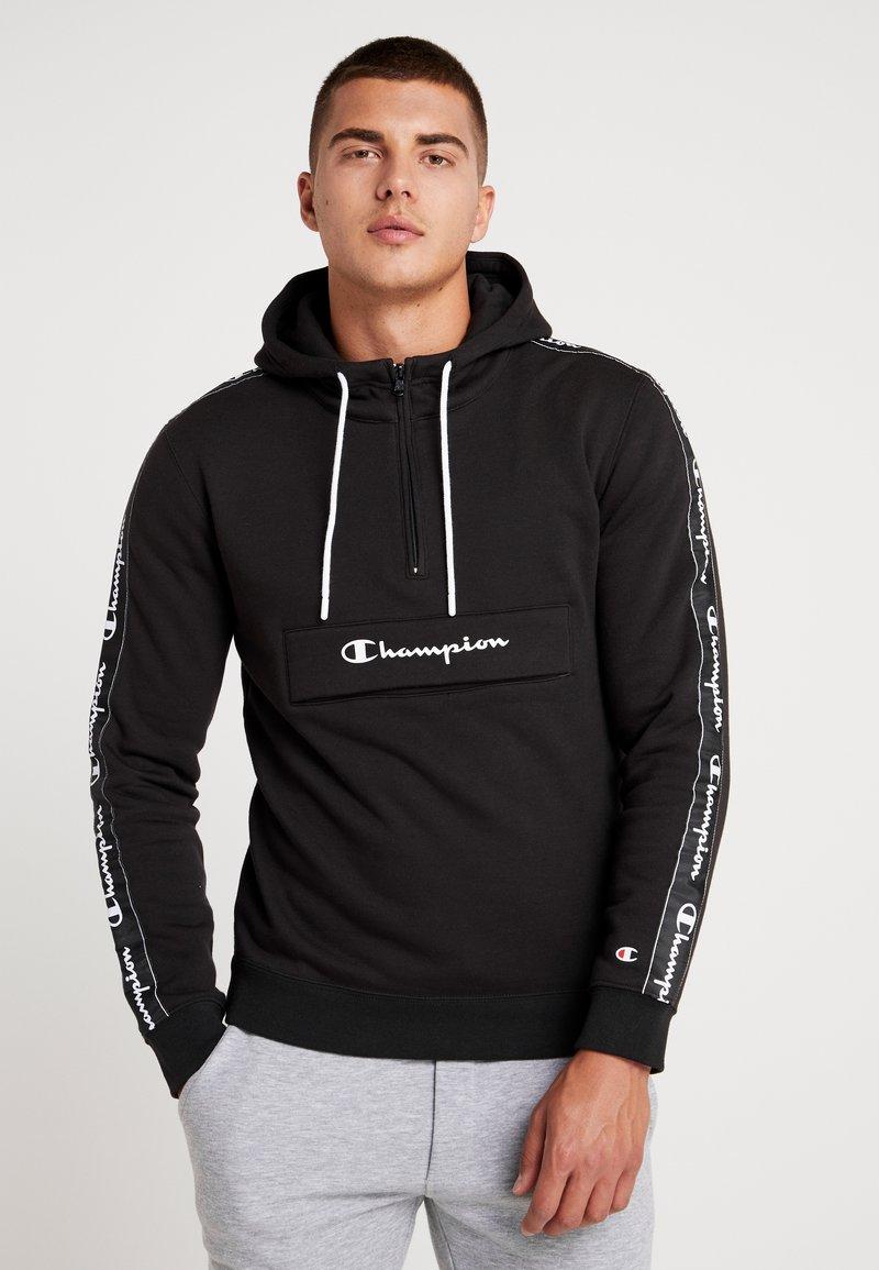 Champion - HALF ZIP - Hoodie - black