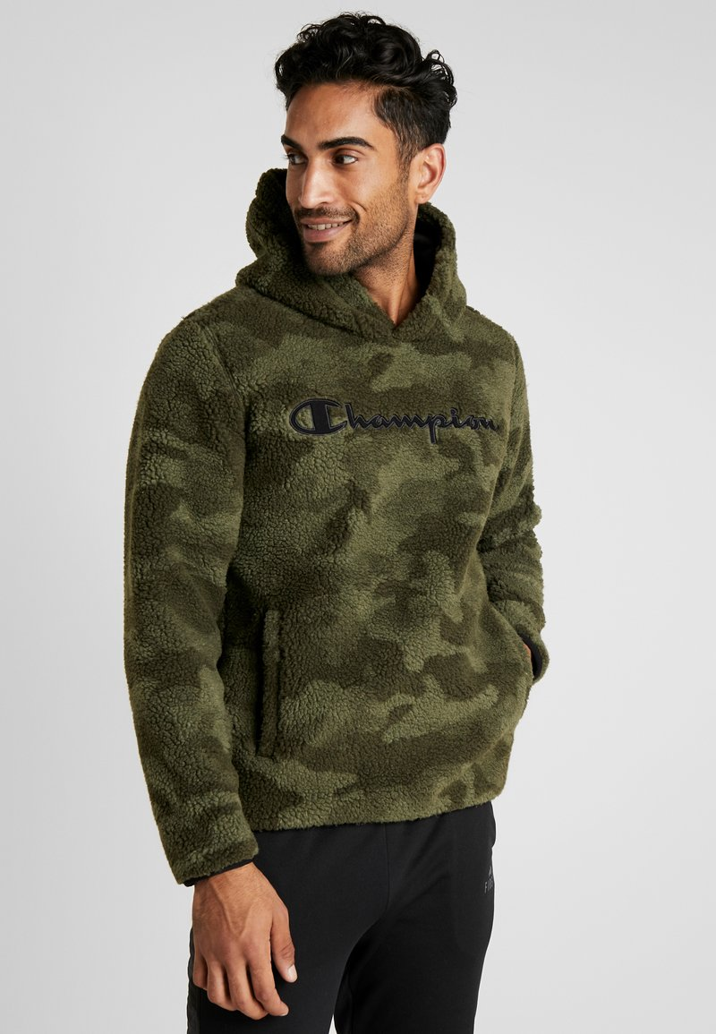 Champion - HOODED - Bluza z kapturem - olive