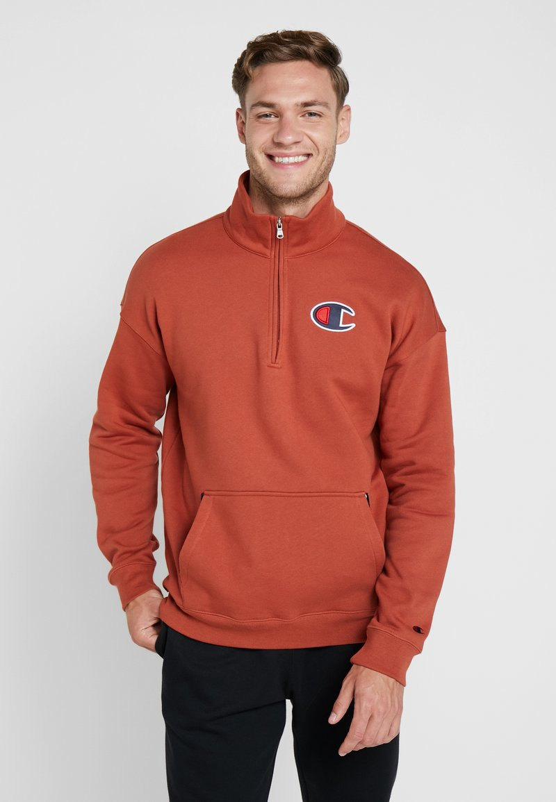 Champion - HALF ZIP - Sweatshirt - dark red