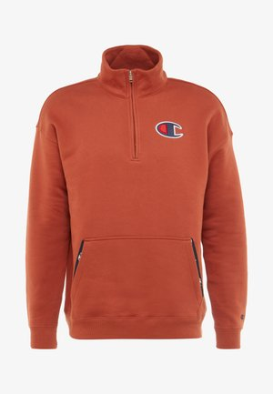 HALF ZIP - Sweater - dark red