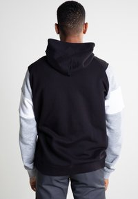 Champion - veste en sweat zippée - new black/new oxford grey melange/white - 2