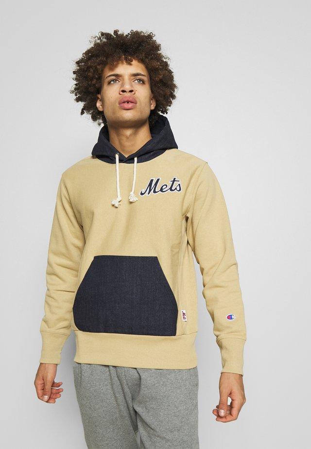 MLB NEW YORK YANKEES HOODED - Hættetrøjer - beige/dark blue