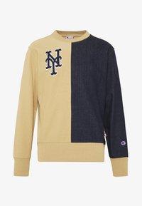 Champion - MLB NEW YORK YANKEES CREWNECK - Klubové oblečení - beige/dark blue - 6