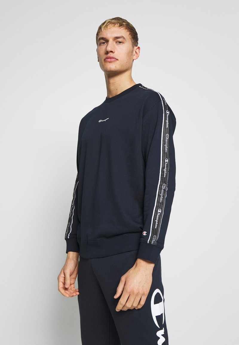 Champion - TAPE CREWNECK - Mikina - dark blue