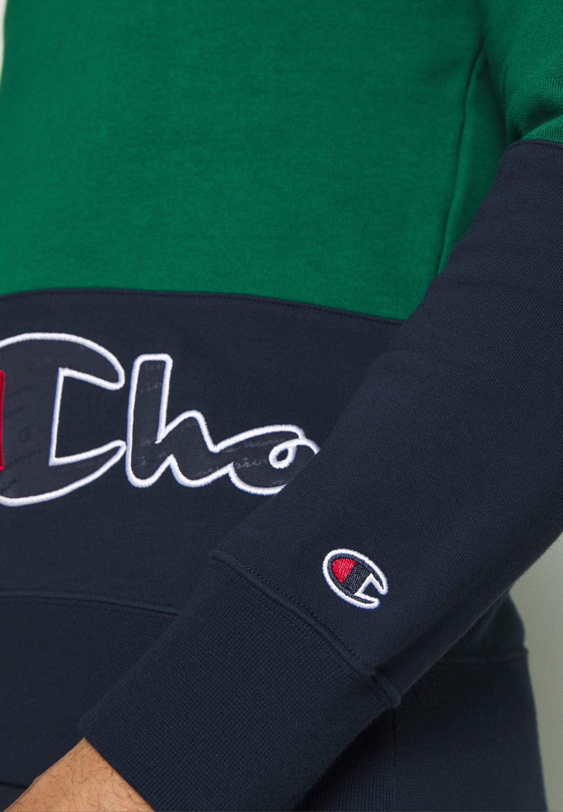 Champion Rochester Crewneck Block - Felpa Green L4TmTgb