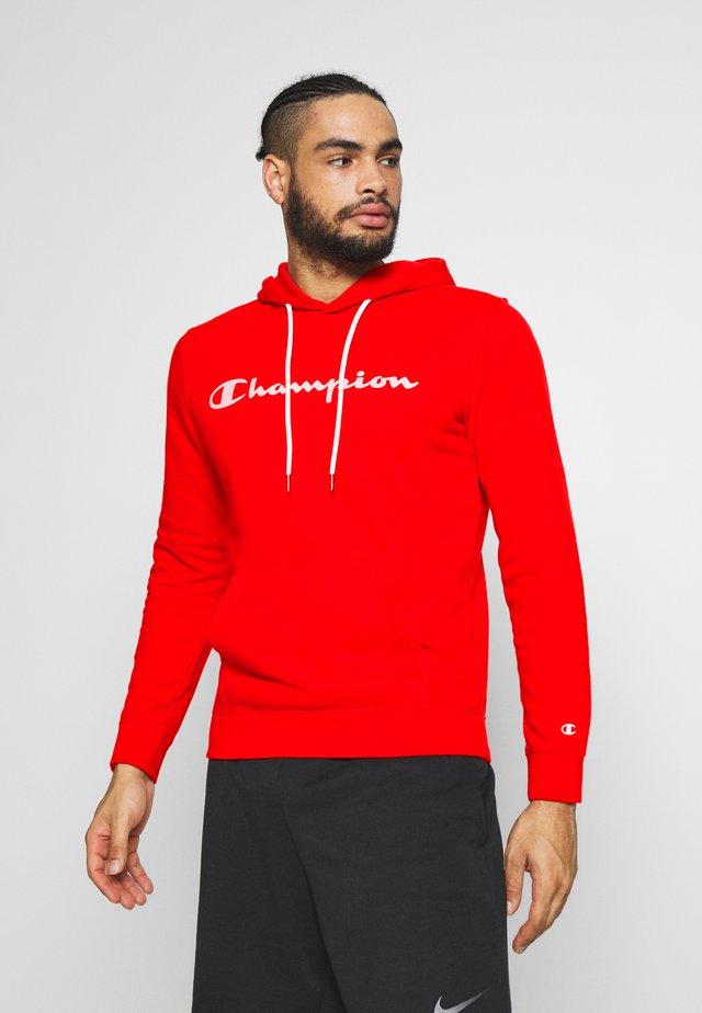 HOODED - Bluza z kapturem - dark red