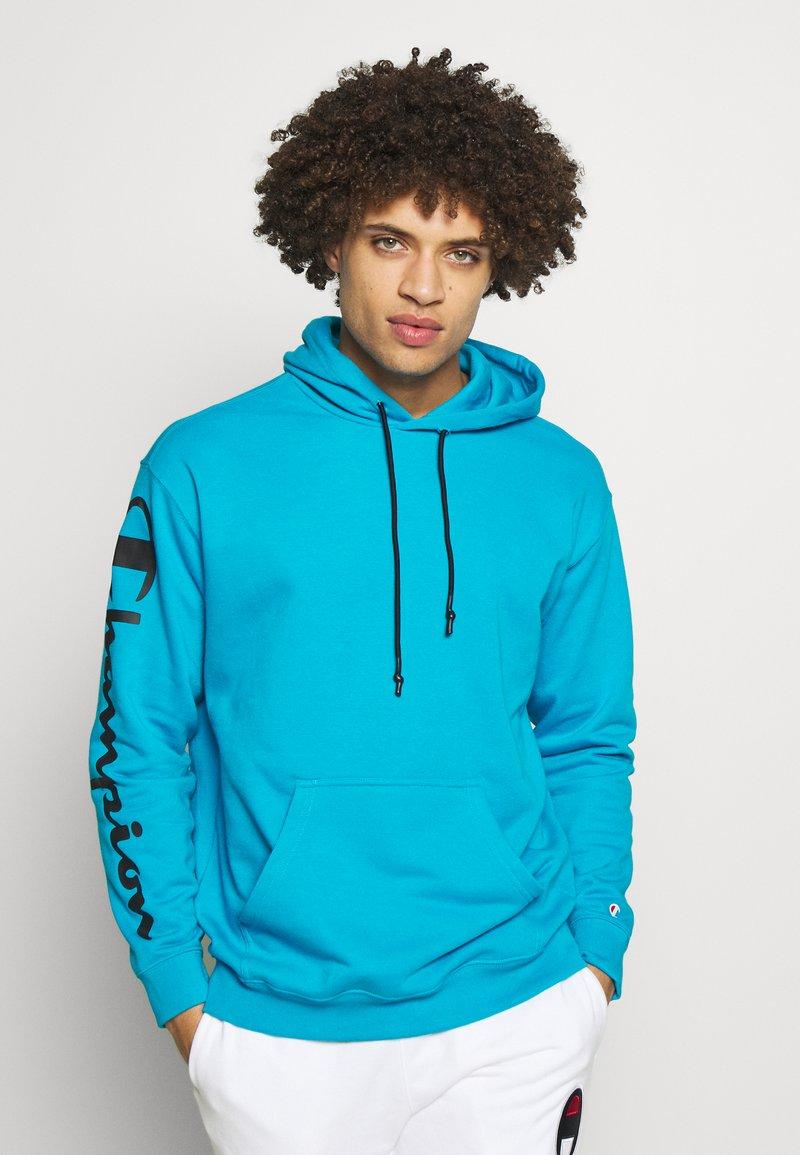Champion - HOODED - Mikina skapucí - neon blue