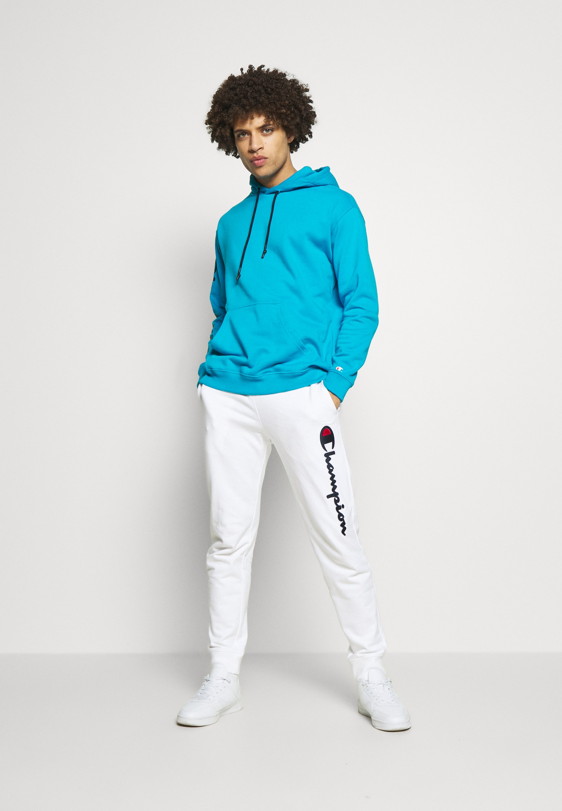 Champion HOODED - Bluza z kapturem - neon blue