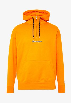ROCHESTER HALF ZIP HOODED - Mikina s kapucí - orange