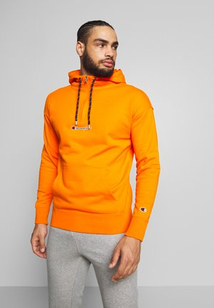 ROCHESTER HALF ZIP HOODED - Bluza z kapturem - orange