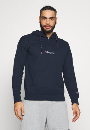 ROCHESTER HALF ZIP HOODED - Hoodie - dark blue
