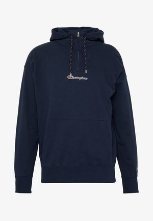 ROCHESTER HALF ZIP HOODED - Huppari - dark blue