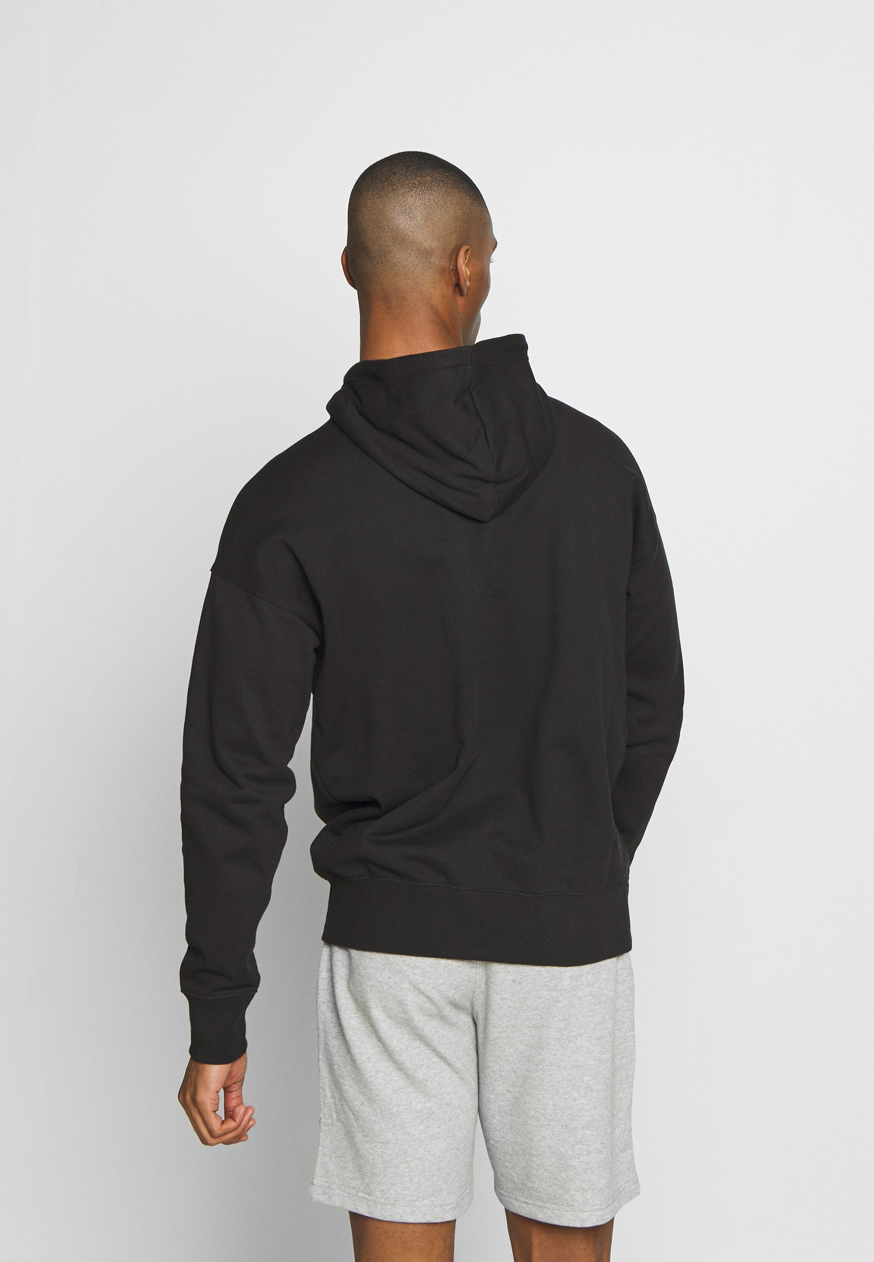 Champion ROCHESTER HALF ZIP HOODED - Bluza z kapturem - black