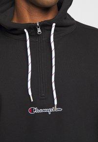 Champion - ROCHESTER HALF ZIP HOODED - Bluza z kapturem - black - 5