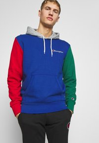 Champion - ROCHESTER TEAM HOODED - Bluza z kapturem - blue/red/green/grey melange - 0