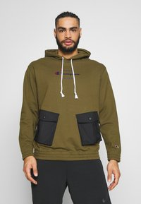Champion - ROCHESTER WORKWEAR HOODED - Mikina skapucí - olive - 0