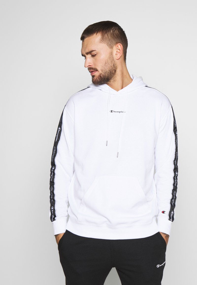 Champion - TAPE HOODED - Huppari - white