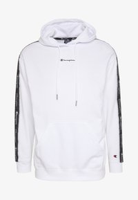 Champion - TAPE HOODED - Huppari - white - 4