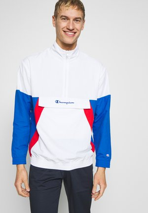 90S BLOCK HALF ZIP - Kurtka sportowa - white/blue/red