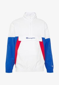Champion - 90S BLOCK HALF ZIP - Kurtka sportowa - white/blue/red