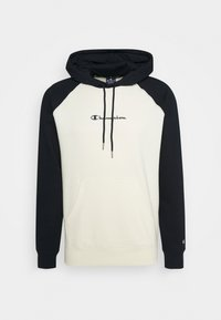 Champion - LEGACY COLOR HOODED - Hoodie - off white/dark blue - 4