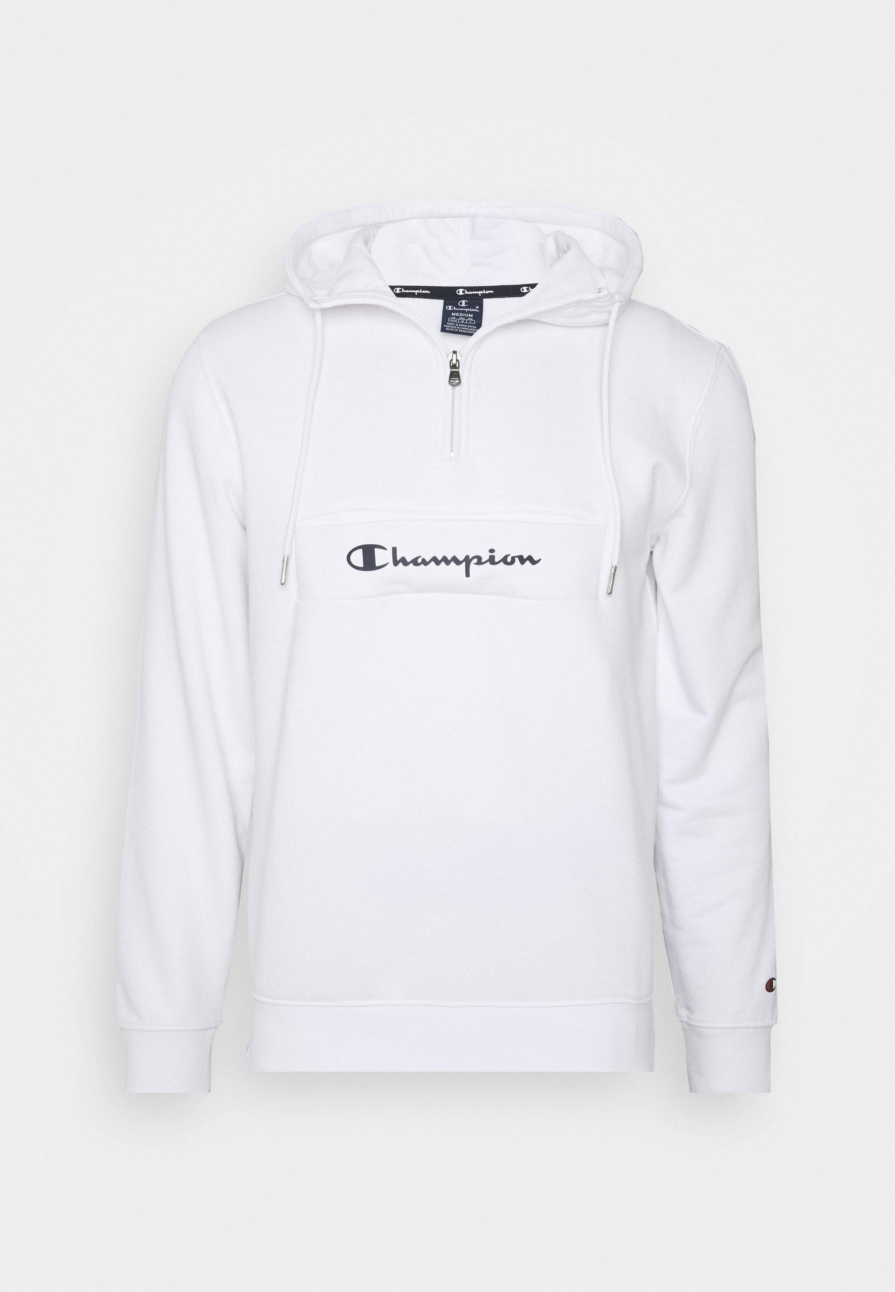 Champion ROCHESTER HALF ZIP HOODED - Hættetrøjer - white