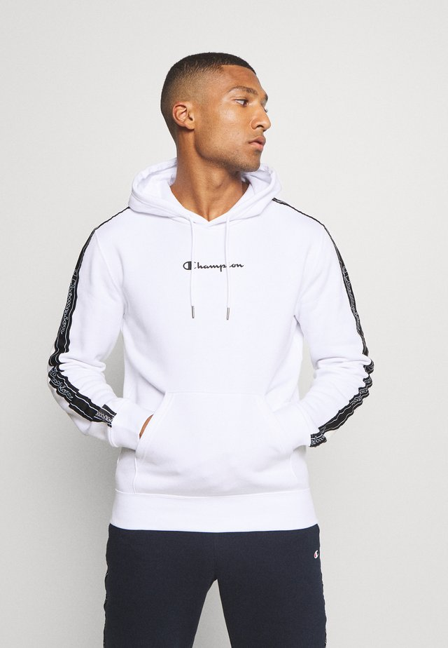 LEGACY TAPE HOODED - Kapuzenpullover - white