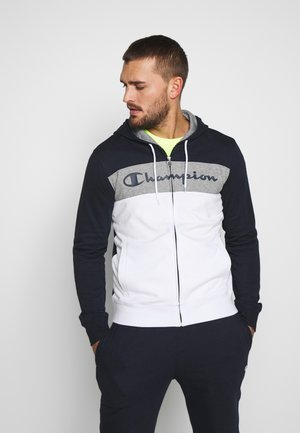 HOODED FULL ZIP SUIT - Tracksuit - dark blue