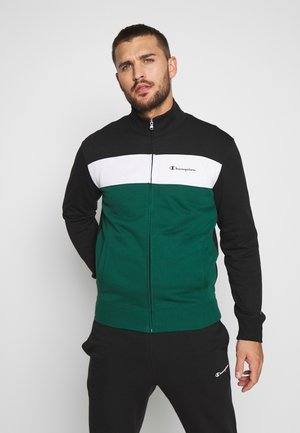 FULL ZIP SUIT - Tracksuit - black/green/white