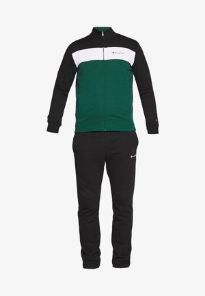 FULL ZIP SUIT - Træningssæt - black/green/white