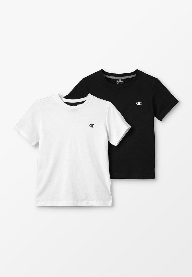 Champion - BASICS CREW NECK 2 PACK - T-shirt basic - white/dark blue