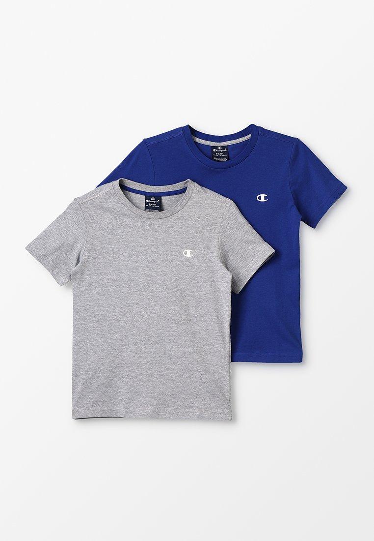 Champion - BASICS CREW NECK 2 PACK - T-shirt basic - grey/blue