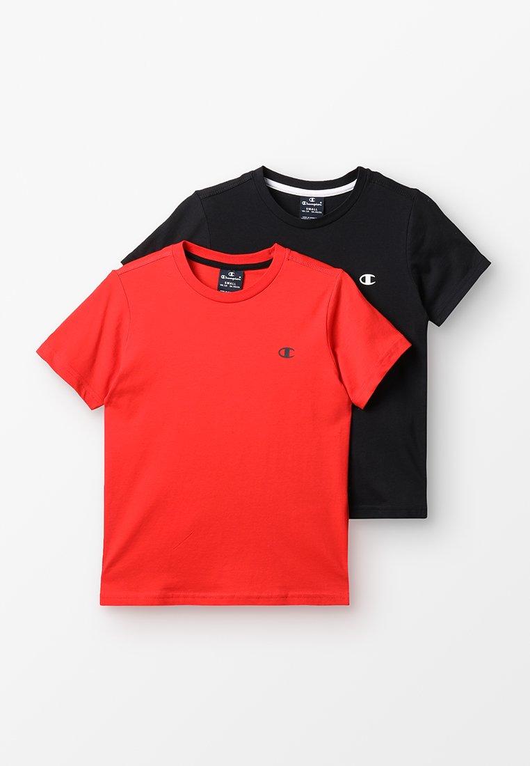 Champion - BASICS CREW NECK 2 PACK - T-paita - red/black